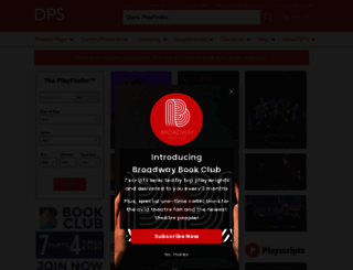 dramatists.com screenshot