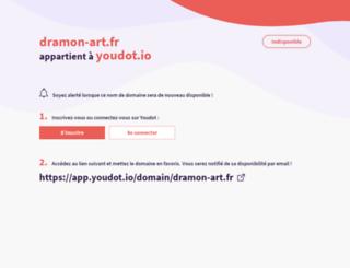 dramon-art.fr screenshot