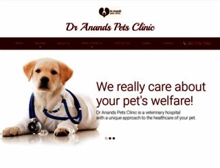 dranandspetsclinic.com screenshot