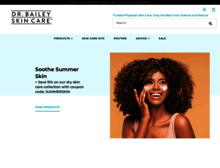 drbaileyskincare.com screenshot