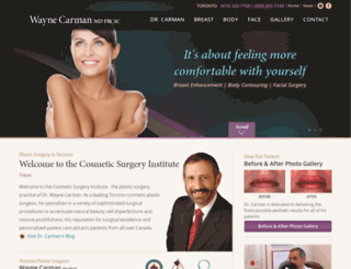 drcarmanplasticsurgery.com screenshot
