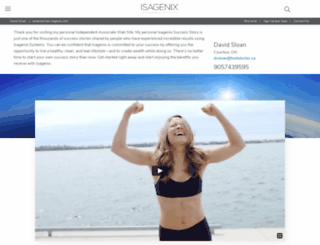 drdavidsloan.isagenix.com screenshot