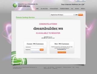 dreambuilder.ws screenshot