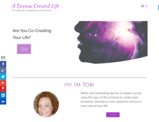 dreamcreatedlife.com screenshot