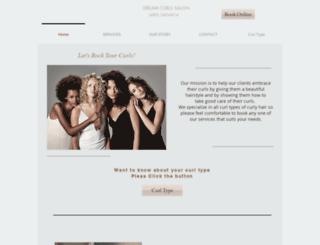 dreamcurlssalon.com screenshot
