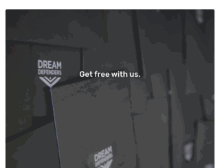 dreamdefenders.nationbuilder.com screenshot