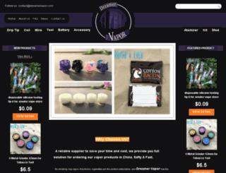 dreamervapor.com screenshot