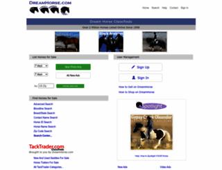 dreamhorse.com screenshot