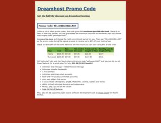 dreamhost-promo-code.yellowgorilla.net screenshot