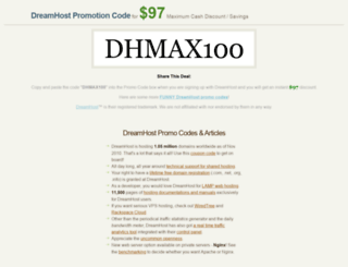 dreamhostpromocode.org screenshot