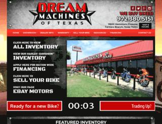 dreammachinesoftexas.com screenshot