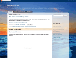 dreamminer.blogspot.com screenshot