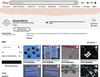 dreamofsilver.com screenshot