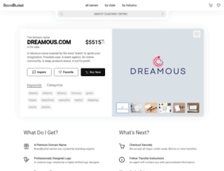 dreamous.com screenshot