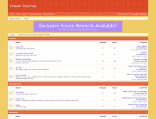 dreampeaches.boards.net screenshot