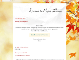dreams-on-paper-leaves.blogspot.ru screenshot