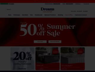 dreams.co.uk screenshot