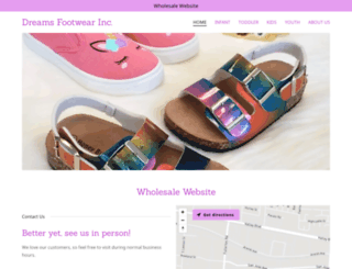 dreamsfootwear.com screenshot