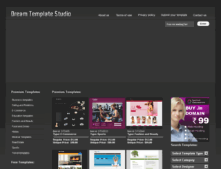 dreamtemplatestudio.com screenshot
