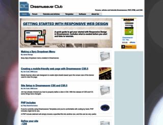 dreamweaverclub.com screenshot