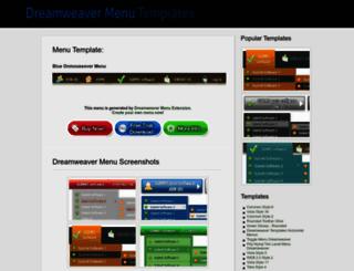 dreamweavermenu.com screenshot