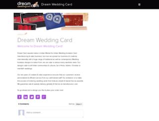 dreamweddingcard.snack.ws screenshot
