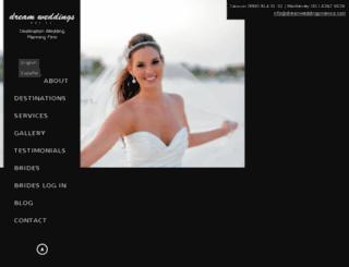 dreamweddingsmexico.com screenshot