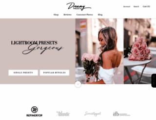 dreamypresets.com screenshot