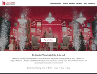 dreamzweddingplanner.com screenshot
