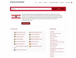 drentsarchiefnet.nl screenshot
