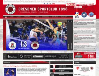 dresdnersportclub.de screenshot