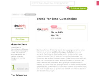 dress-for-less.gutscheincodes.de screenshot