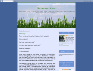 dressagemom.blogspot.com screenshot