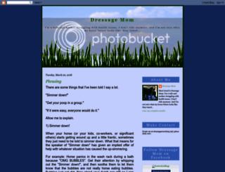 dressagemom.blogspot.com screenshot