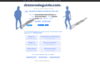 dresscodeguide.com screenshot