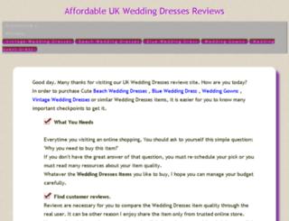 dressesforwedding.work screenshot