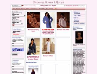dressinggownsandrobes.com screenshot