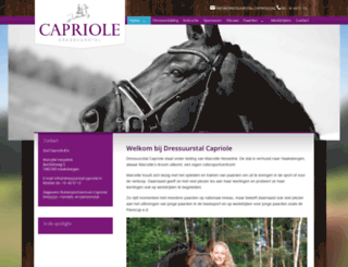 dressuurstal-capriole.nl screenshot