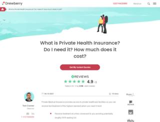 drewberryhealthinsurance.co.uk screenshot