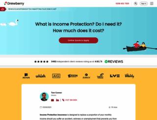 drewberryincomeprotection.co.uk screenshot