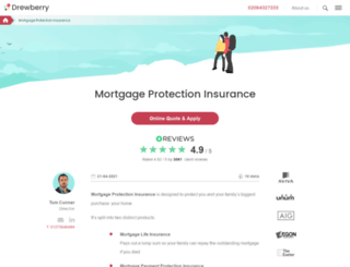 drewberrymortgageinsurance.co.uk screenshot