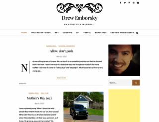 drewemborsky.com screenshot