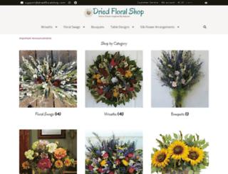 driedfloralshop.com screenshot