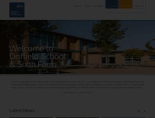 driffieldschool.net screenshot