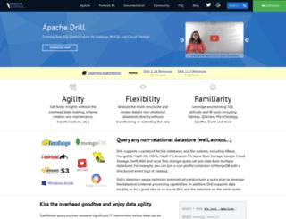 drill.apache.org screenshot