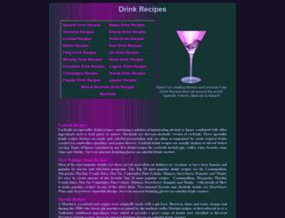 drink-recipes.org.uk screenshot