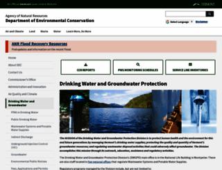 drinkingwater.vt.gov screenshot