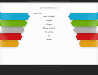 drinkinlondon.co.uk screenshot