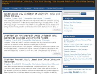drishyamboxofficecollection.com screenshot