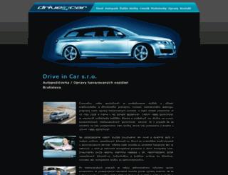 driveincar.sk screenshot
